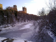 River Wear frozen at Durham, County Durham © Robert Graham